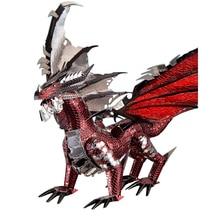 2019 morceau 3D métal Puzzle Figure jouet le Dragon noir modèle éducatif Puzzle 3D modèles cadeau Puzzle jouets pour enfants