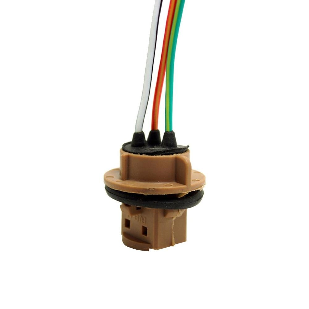 T20 7440 LED 7443 W21/5 W de freno señal bombilla de coche adaptador de enchufe