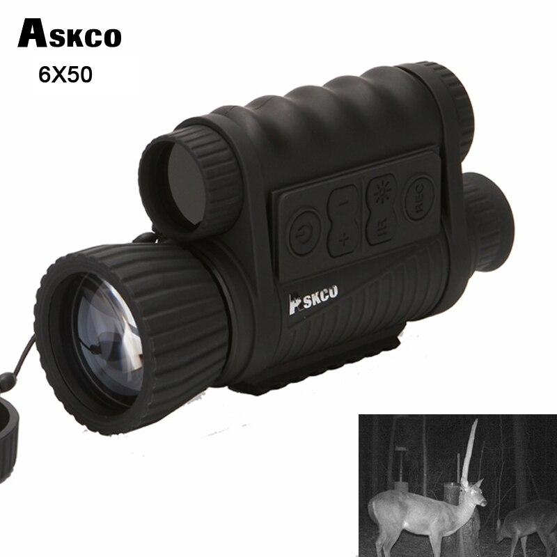 Caza Digital infrarrojo 6X50 visión nocturna telescopio Monocular 5MP HD 350m gama para la imagen Grabación de Vídeo NVH650