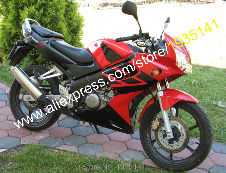 Para Honda CBR125R 02-06 CBR125RR CBR 125R 125RR CBR125 R 2002 2003 2004 2005 2006, conjunto de carenado de motocicleta rojo y negro