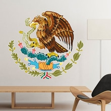 Mexiko Nationalen Emblem Land Symbol Mark Muster Entfernbare Wandaufkleber DIY Tapete für Zimmer Aufkleber