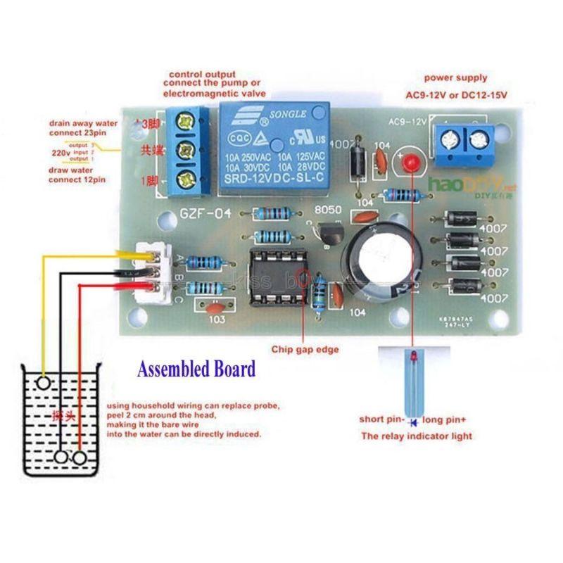 Controlador de nivel de líquido de agua DC 5V 12V Módulo de Sensor de nivel de agua Sensor de flujo de combustible de presión de detección de nivel de agua nuevo