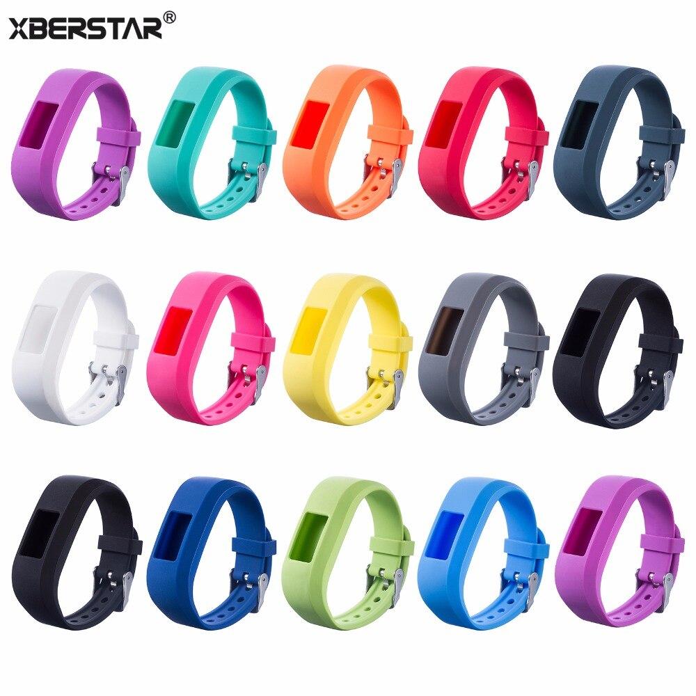 XBERSTAR Esportes Silicone Wrist band Strap para Garmin VivoFit Jr 2 Atividade Rastreador Smartwatch Pulseira Bandas Unissex Esportes Cinta