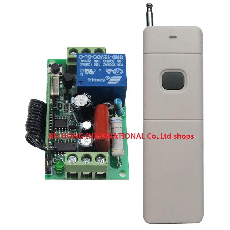 Interruptor de Control remoto inalámbrico AC220V 10A, transmisor de larga distancia, lámpara, Bombilla, Motor de encendido remoto 315/433MHZ