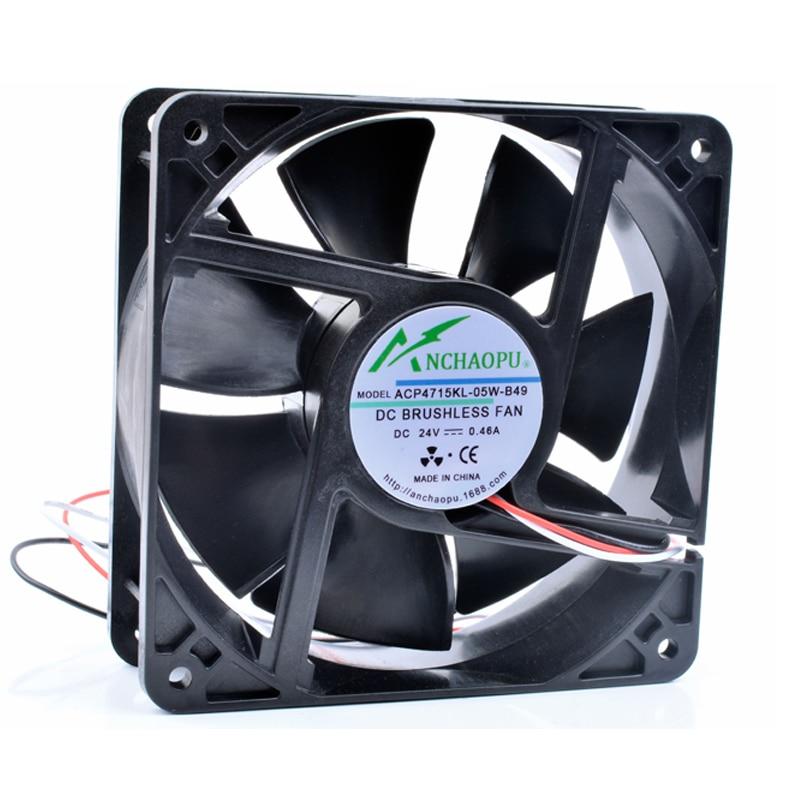 A ESTRENAR original ANCHAOPU 4715KL-05W-B49 12cm 12038 120x120x38mm DC24V 0.46A 3 línea inversor ventilador de refrigeración