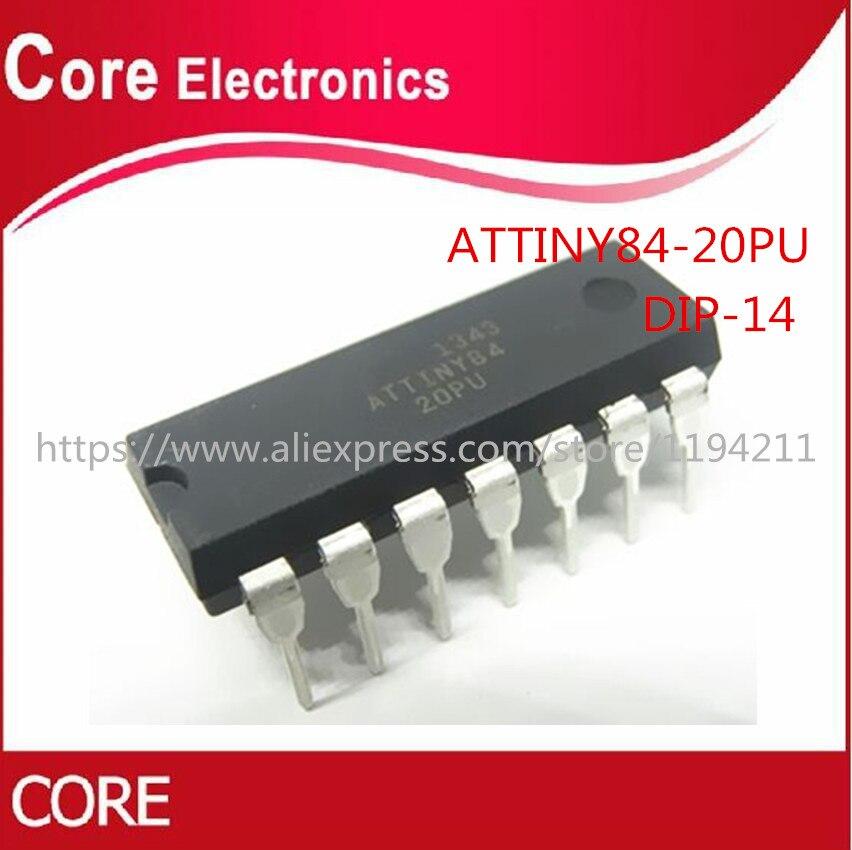5 unids/lote ATTINY84-20PU ATTINY84 ATTINY84-20 MCU 8BIT 8KB FLASH 14-DIP mejor calidad IC