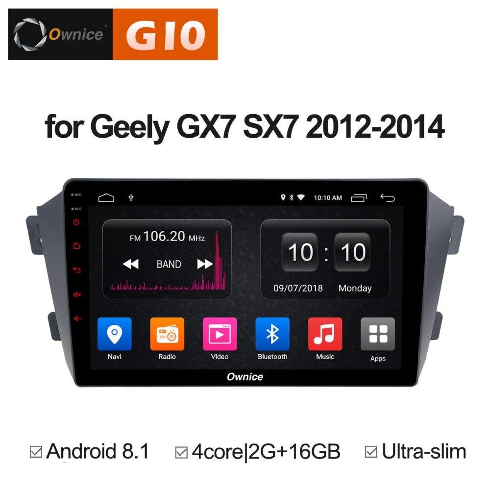 HD 9 polegada 2 GB RAM + 4 16 GB ROM Quad Core Android 8.1 Jogador Do Carro DVD Para Geely GX7 SX7 2012-2014 GPS Navi Radio Stereo 4G WI-FI