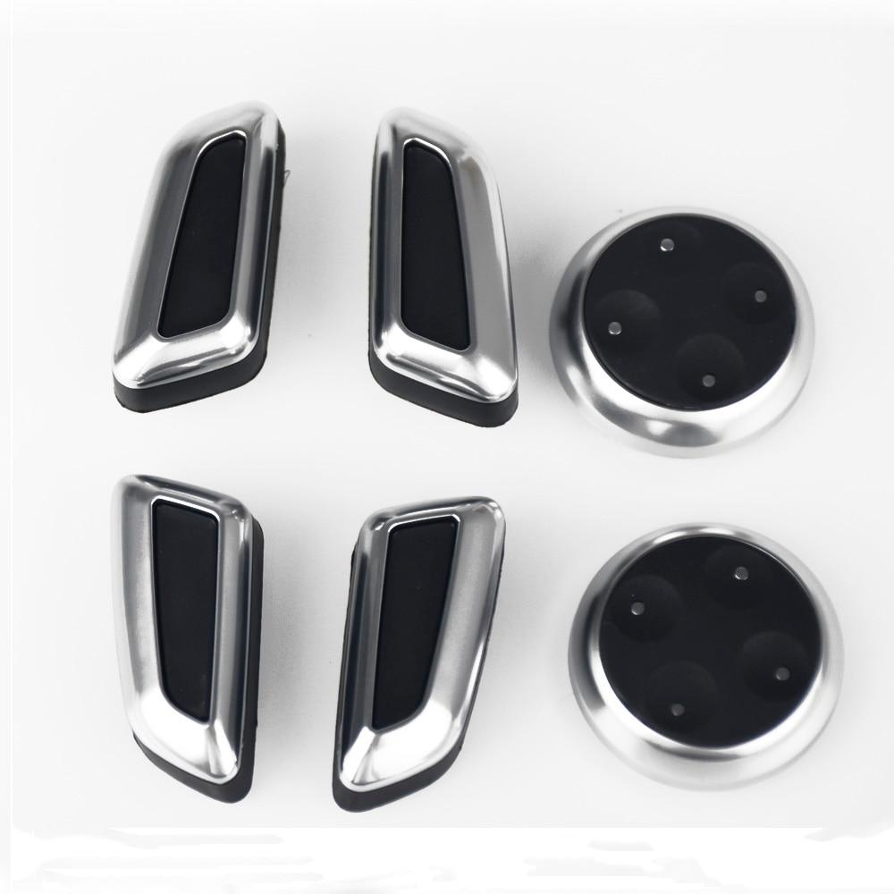 6 uds asiento ajustable mando interruptor de botón para Audi A3 A4 A5 A6 Q3 Q5 2009, 2010, 2011, 2012, 2013, 2014, 2015