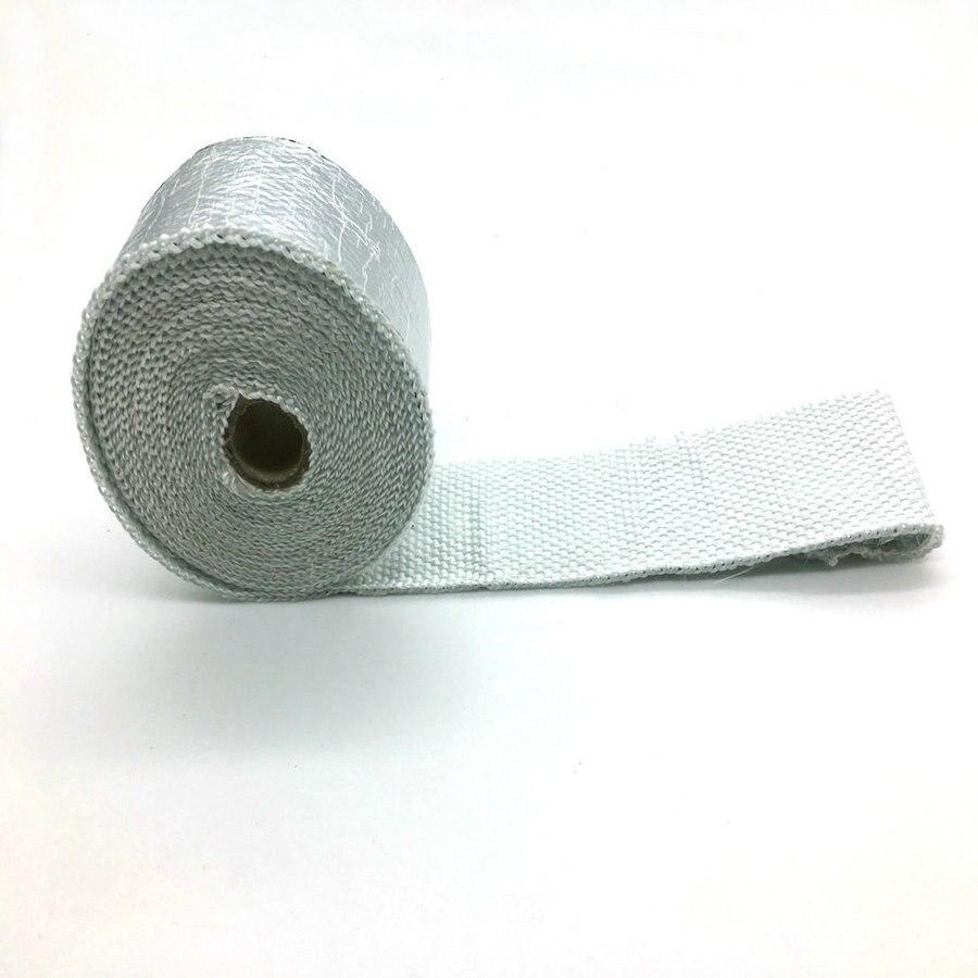 """Silenciador de escape Motorcyle, cinta de encabezado de tubo, papel aluminio fibra vidrio, envoltura de escape 2 """"x 10m"""