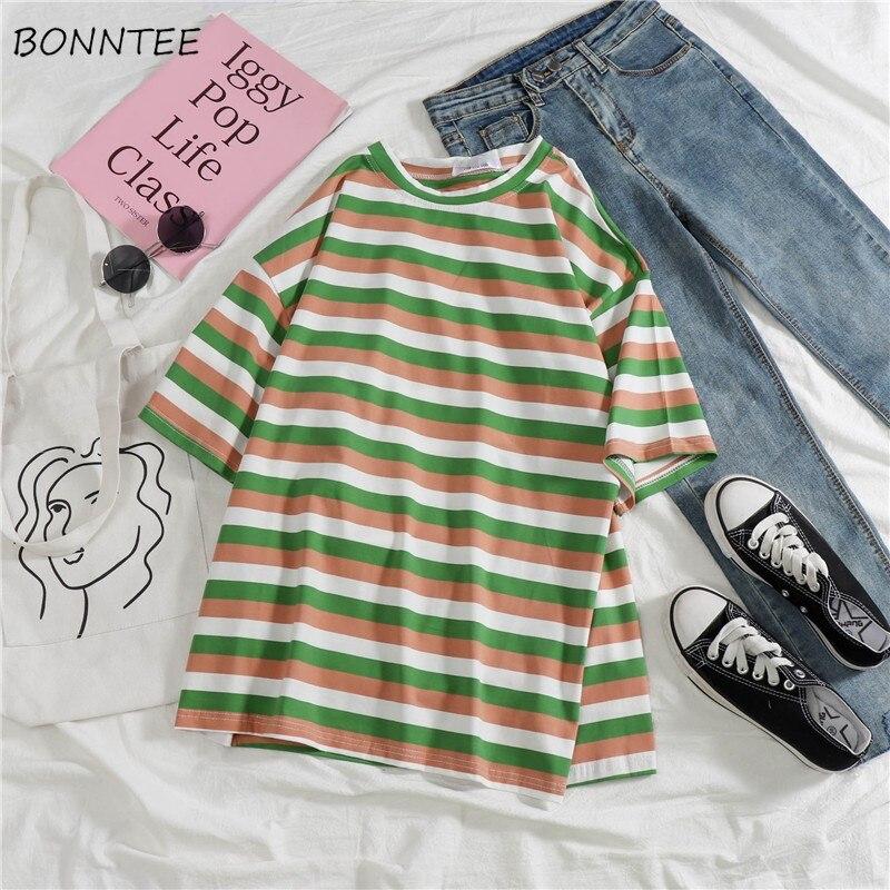 Tシャツ女性半袖 O-ネックシンプルな韓国スタイルルーズファッションレディース衣類すべてマッチレジャー夏の学生