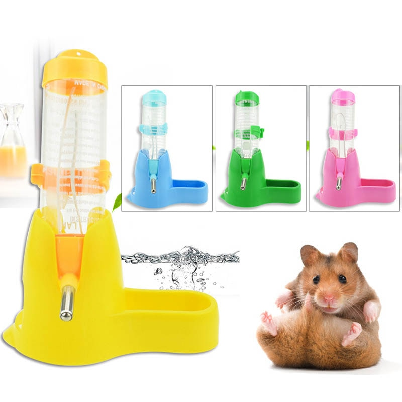 Pets Hamster Water Bottle Small Medium Animal Automatic Supplies Accessory Feeding Food Container Pet Drinking Bottle with Stand