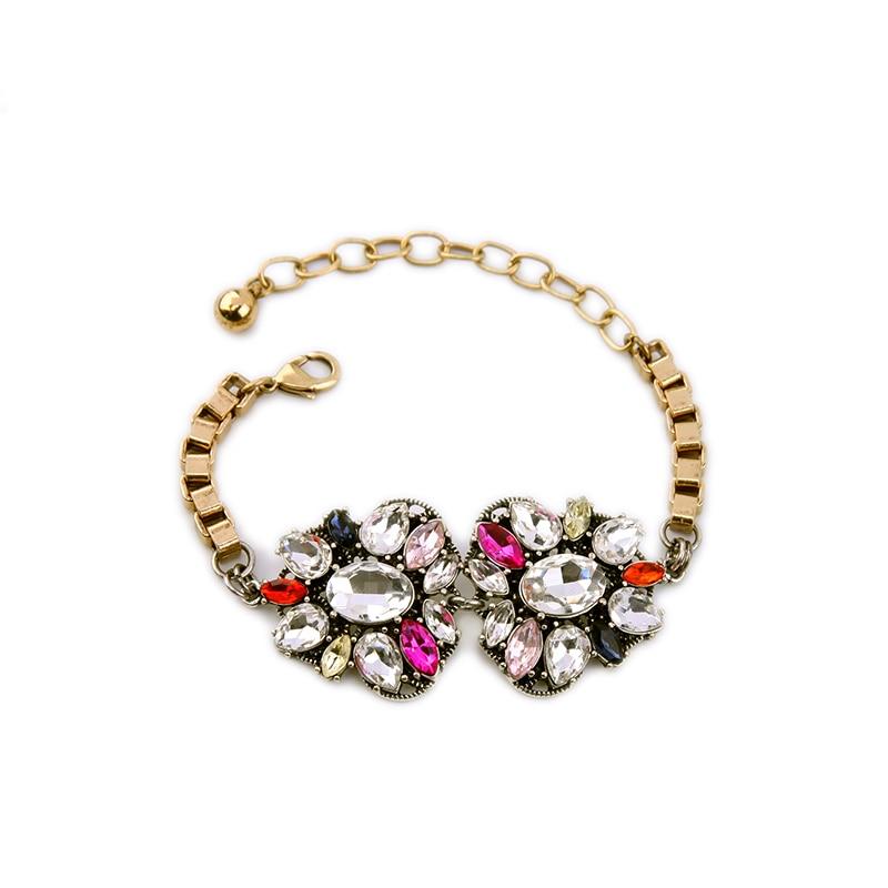 Bulk Price Wholesale Summer Princess Charm Bracelets Colorful Crysrtal Double Butterfly Cheap Bracelet For Gift