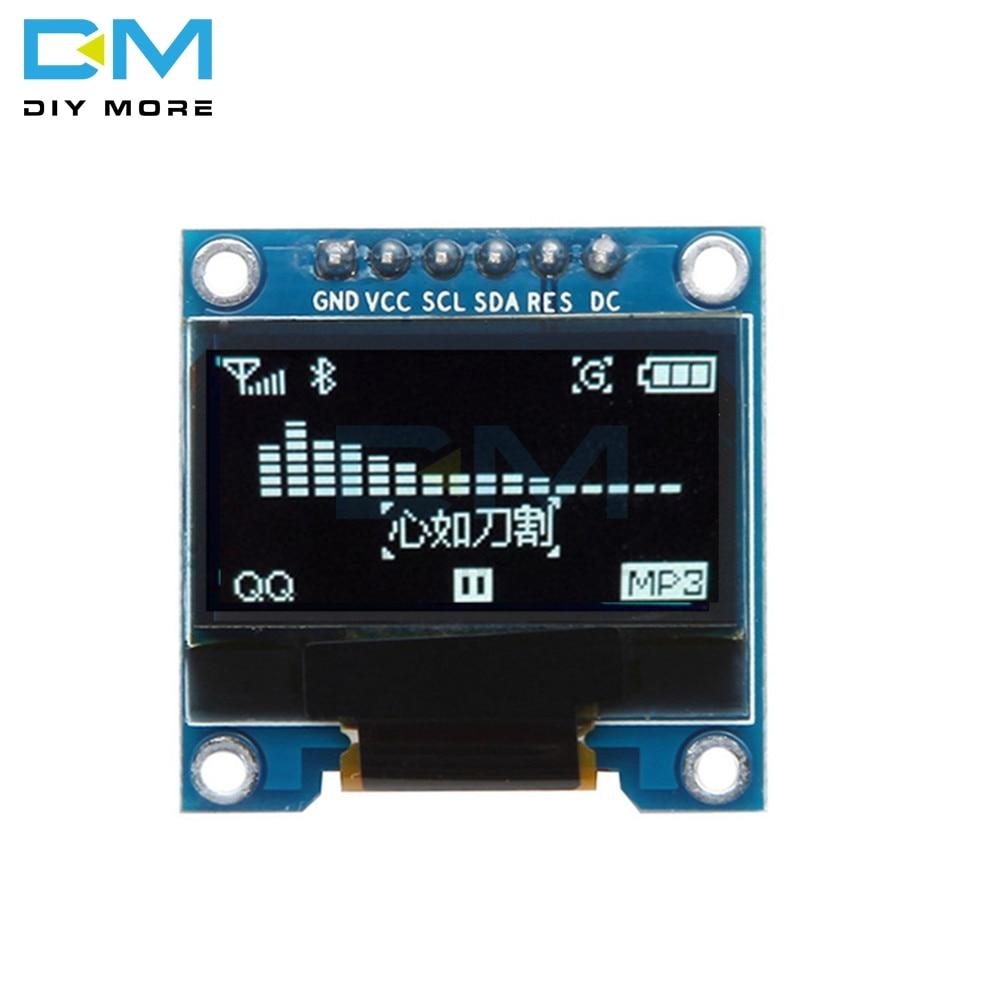 0,96 дюймовый 6Pin IIC I2C SPI интерфейс OLED Белый ЖК-дисплей модуль для Arduino Raspberry Pi SMT32 128X64 интерфейс SSD136 плата