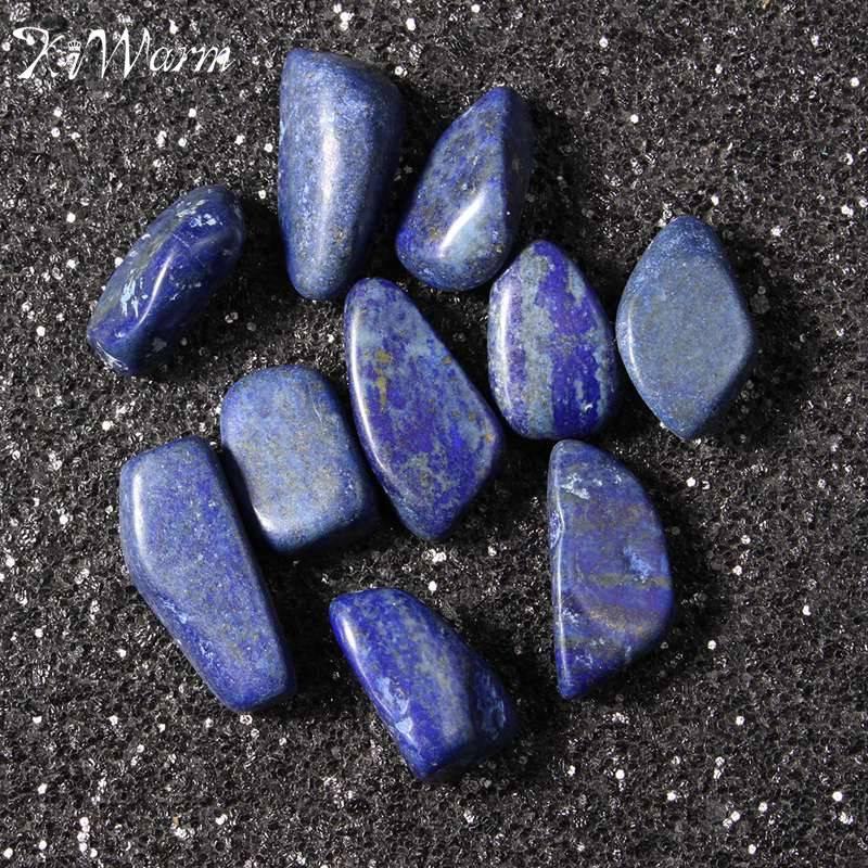 KiWarm 10 Uds en venta piedra rodada sodalita azul piedras curativas cristales gema Reiki cuentas decoración 1,8 cm-3 cm al por mayor
