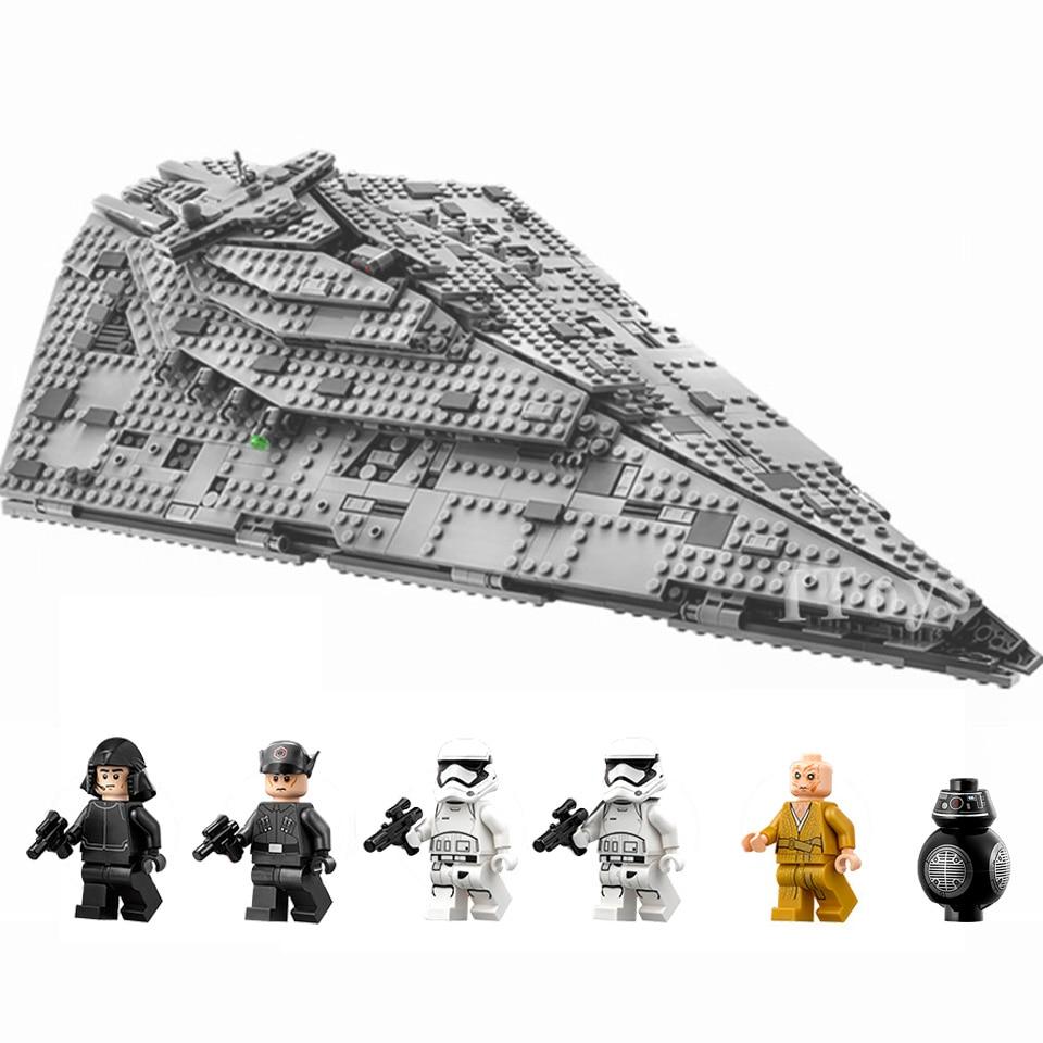 Juego de destructor de la guerra de las galaxias, modelo de bloques de construcción, 1585 Uds. De bloques, regalos de cumpleaños de Star Wars para niños, juguetes educativos de ensamblaje para niños