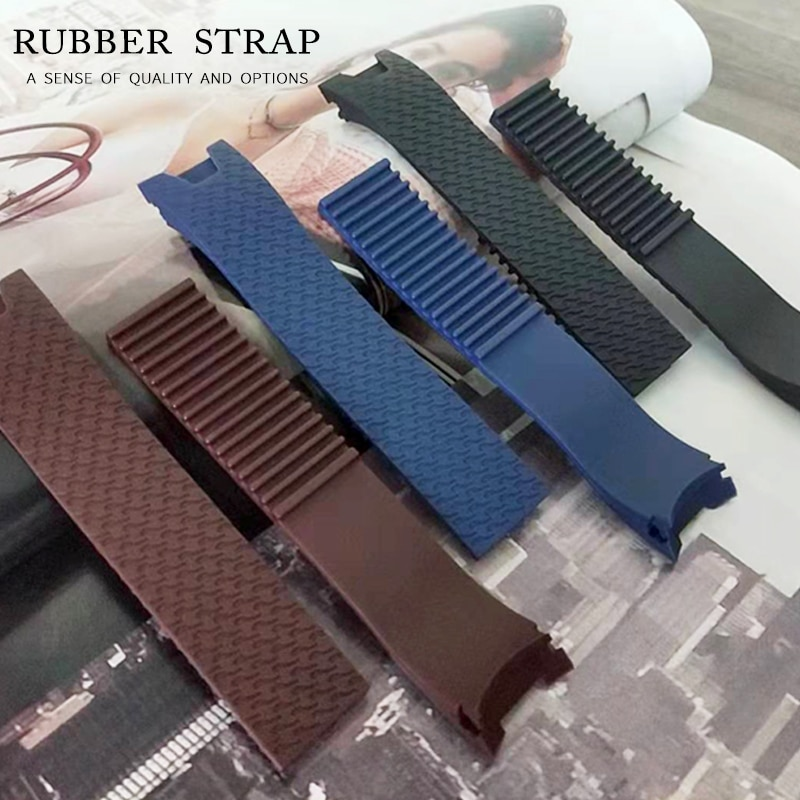20x18mm Woman Black Brown Blue Waterproof Silicone Rubber Replacement Wrist Watch Band Strap Belt For Ulysse Nardin Watch Lady carlywet 25 12mm black brown blue waterproof silicone rubber replacement wrist watch band strap belt for ulysse nardin