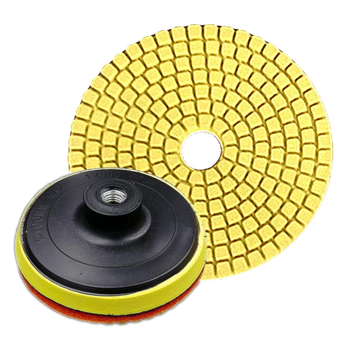 Grinding Machine Diamond Polishing Pads 4 inch 100mm Wet/Dry for Granite Stone Concrete Marble Sanding Use Flexible Accessories недорого