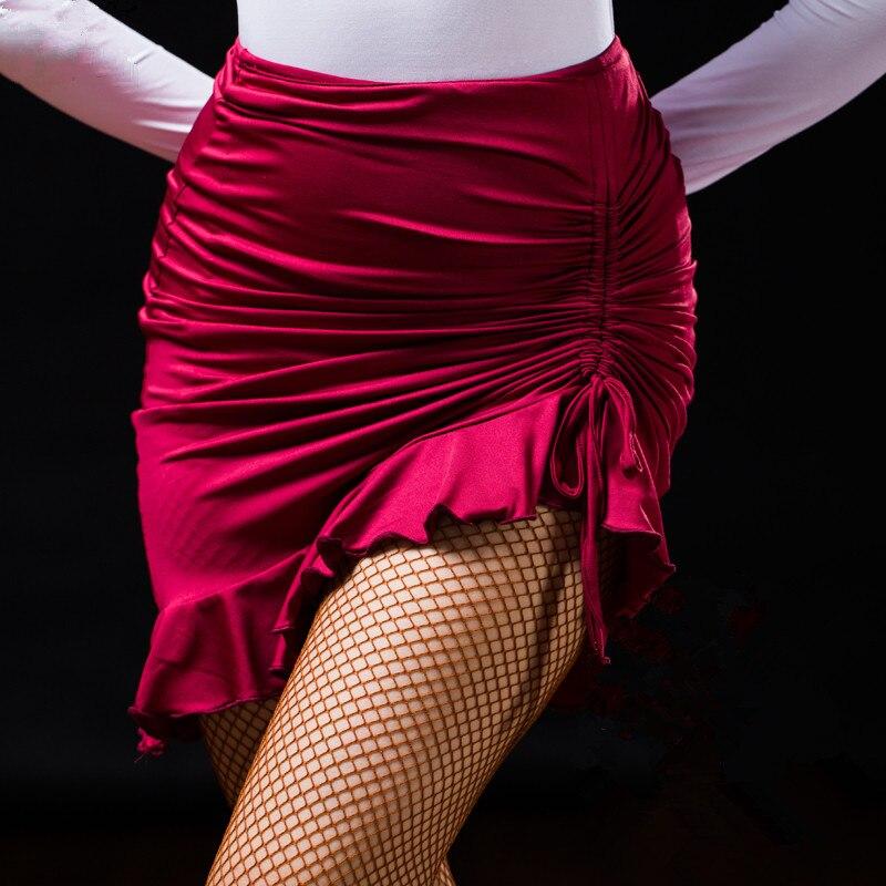Sexy mulher senhora latina saia preto vermelho verde cordão salsa tango rumba samba paso vestido de dança de salão quadrado hip hop roupas