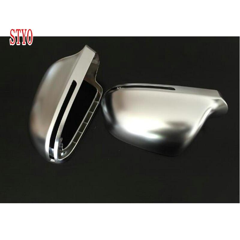 STYO для AUDII A4 B8 A5 A6 Q3 ABS матовая хромированная крышка зеркала заднего вида боковое зеркало чехол Корпус