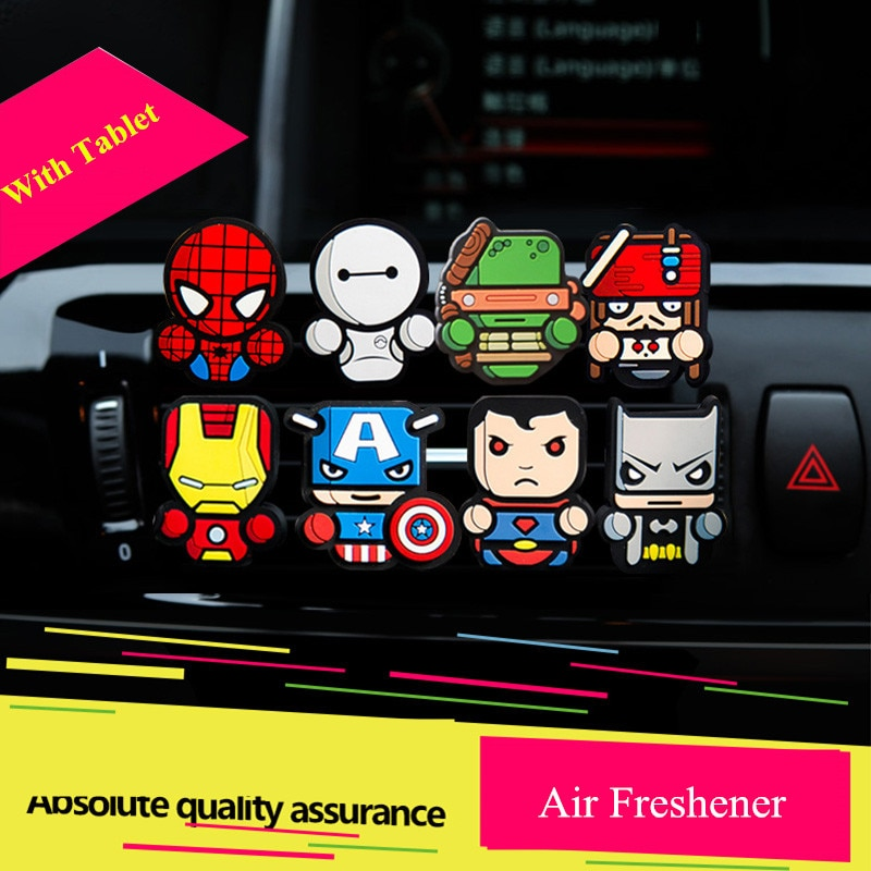 1PC Car Perfume Air Freshener Vent Outlet Clip Cartoon Auto Air Vent Solid Fragrance Air Conditioner