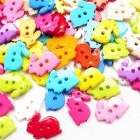 suoja 50pcslot mix rabbit kids plastic buttons sewing craft 2 holes