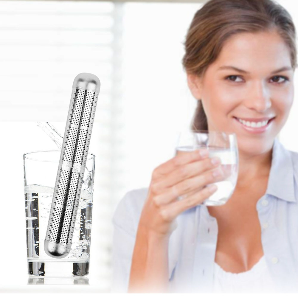10/20 pçs de aço inoxidável alcalino vara água ph alkalizer lonizer vara hidrogênio minerais purificador água filtro portátil saúde