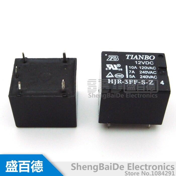 HJR-3FF-S-Z 05VDC 12VDC 24VDC 10A relés 5 pin olla de uso específico nuevo Origibnal 5 unids/lote