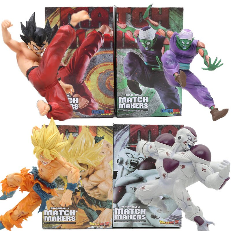 Anime Dragon Ball Z match makers figures toy Piccolo super saiyan son gokou Freeza frieza Goku full power Model Kids toy doll