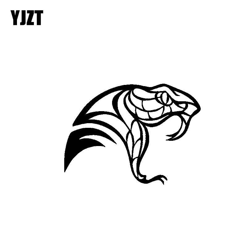 YJZT 14.5CM*10.8CM Delicate Tribal Snake Head Unusually Nifty Original Cool Vinyl Decal Car Sticker Black/Silver C19-1077
