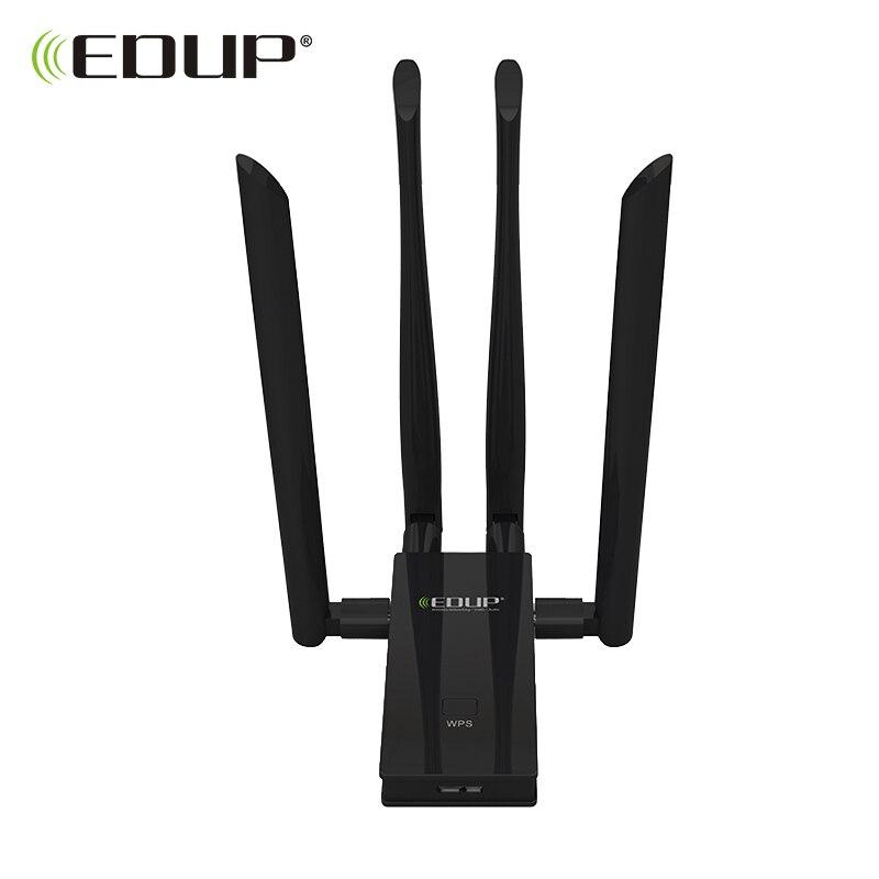EDUP 5 ГГц usb Wi-Fi адаптер 1900 Мбит/с 802.11ac вай фай адаптер междугородний wifi приемник 4 * 6dBi антенны двухдиапазонный USB 3,0 Ethernet адаптер