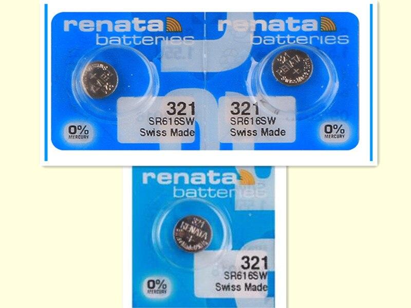 3 unids/lote renata óxido de plata pilas para reloj 321 SR616SW 616 1,55 V 100% marca original renata 321 renata 616 batería