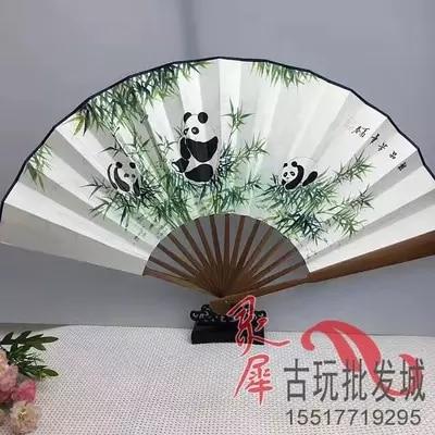 Мини Xuan бумага, античная Ручная роспись, восстановление панды, вентилятор складной вентилятор украшения.