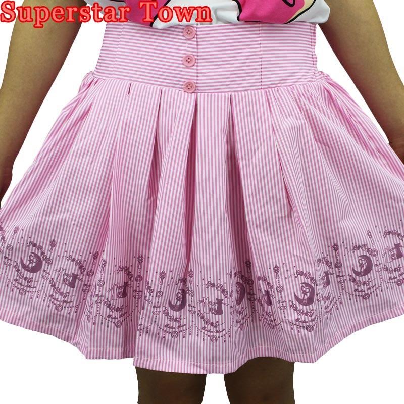 Sailor kawaii falda de luna de cintura alta corta Skater Lolita faldas plisadas chicas Saias Faldas de Mujer