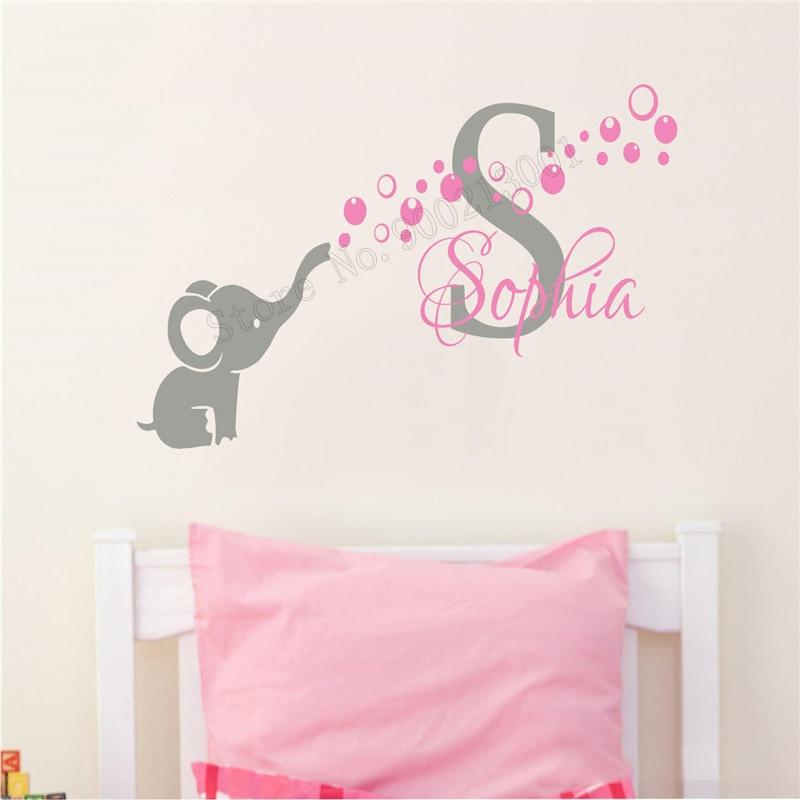Arte adesivo de parede decoração do bebê menina vinil arte removível nersery cartaz design nome personalizado cartaz beleza ornamently197