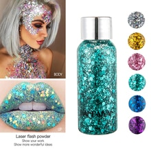 Nail Face Body Glitter Paste Cream Giltter Eyeshadow Sequins Shimmer Diamond Eye Shiny Skin Highligh