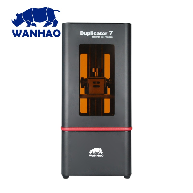 Wanhao Duplicator 7 (D7) V1.5, más estable, con cubierta transparente/tapa Wanhao Factory DLP impresora 3D, resina de 250ml gratis