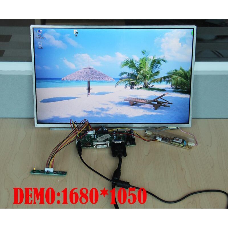 "kit for M190PW01 V2 19"" Controller board HDMI Driver M.NT68676 DIY LVDS 4 lamps Screen Panel VGA DVI 30pin 1440X900"