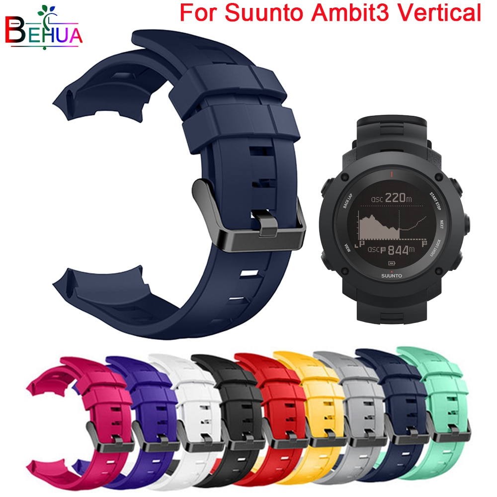 yayuu 22mm universal top quality vertical nylon watchband sports strap adjustable wristband replacement smart watch straps Sport Silicone watchband strap For Suunto Ambit3 Vertical Watch Replacement Multi-Color Quality Bracelet watch straps Wristband