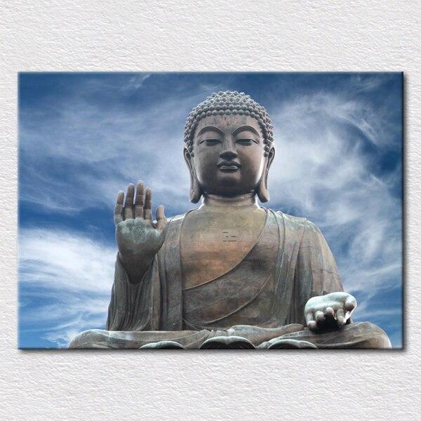 Impresiones de lienzo HD pintura hermosas atracciones turística fotos de lord buddha para colgar en la sala de estar envío gratis