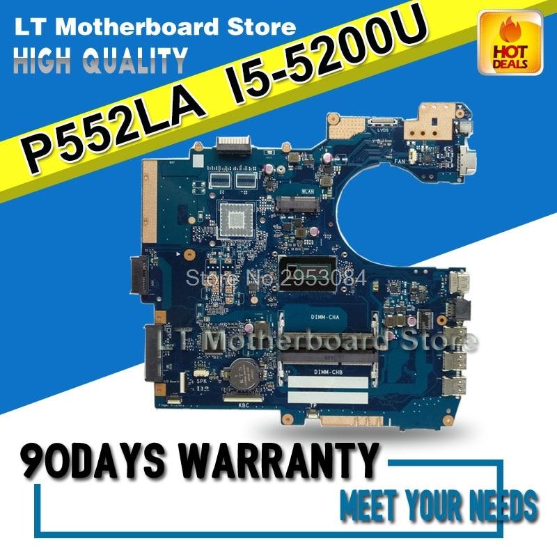 Материнская плата для ASUS P552LA REV2.1 материнская плата 4G память на плате с I5-5200U cpu 100% протестирована перед отправкой S-4