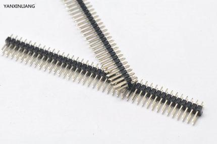 Двухрядный наружный штырьковый разъем 2,54 мм 80 Pin 2x40, 5 шт., черный разъем для Arduino