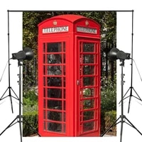 150x220cm retro red telephone box photo background london call tool backdrop european theme photography studio backdrop props