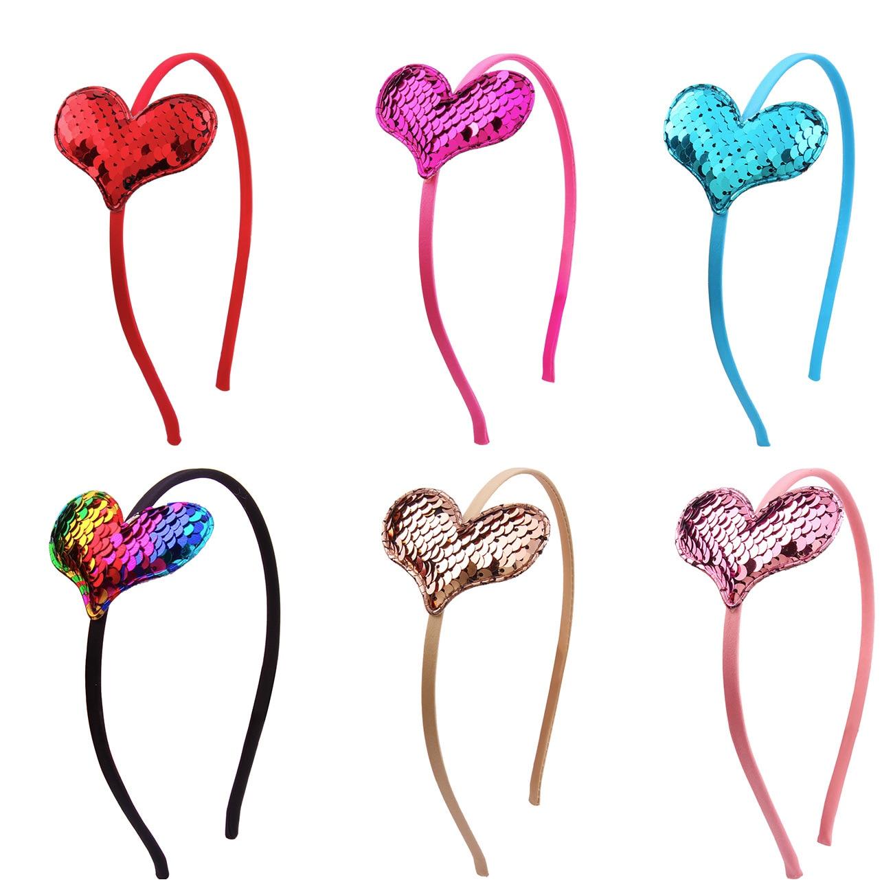 Gran oferta 2019, lazo de lentejuelas, amor para niños, diadema para orejas Reversible de lentejuelas, Boutique, diadema dura para niños, accesorios para el cabello para niñas