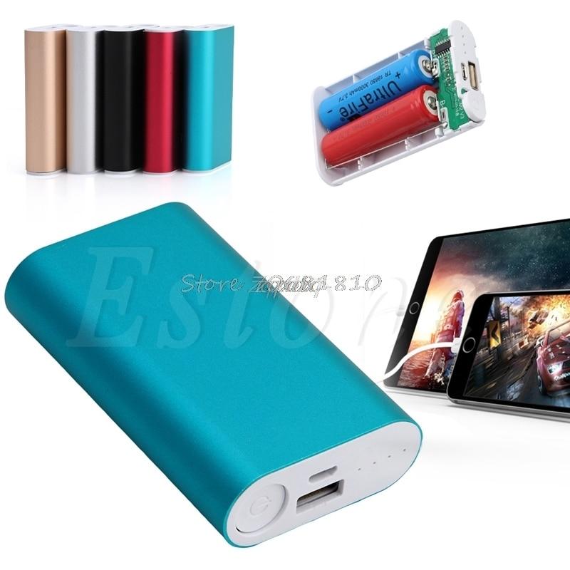 Portátil 5V GPS del teléfono funda de Banco de energía con USB Kit de 2x18650 cargador de batería caja DIY nueva venta al por mayor y Dropship