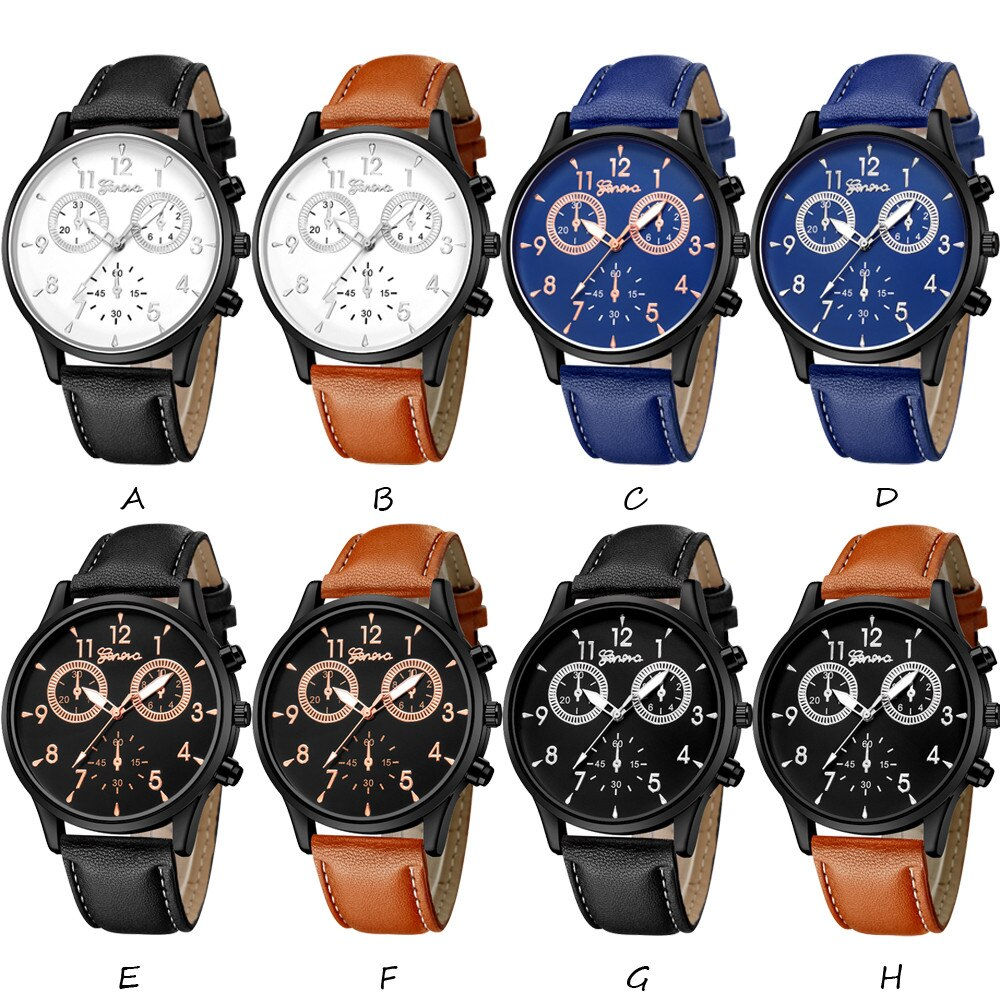 Mode männer Leder Military Casual Analog Quarz Armbanduhr Business Uhren uhr der Männer Handgelenk Party dekoration Business Wa