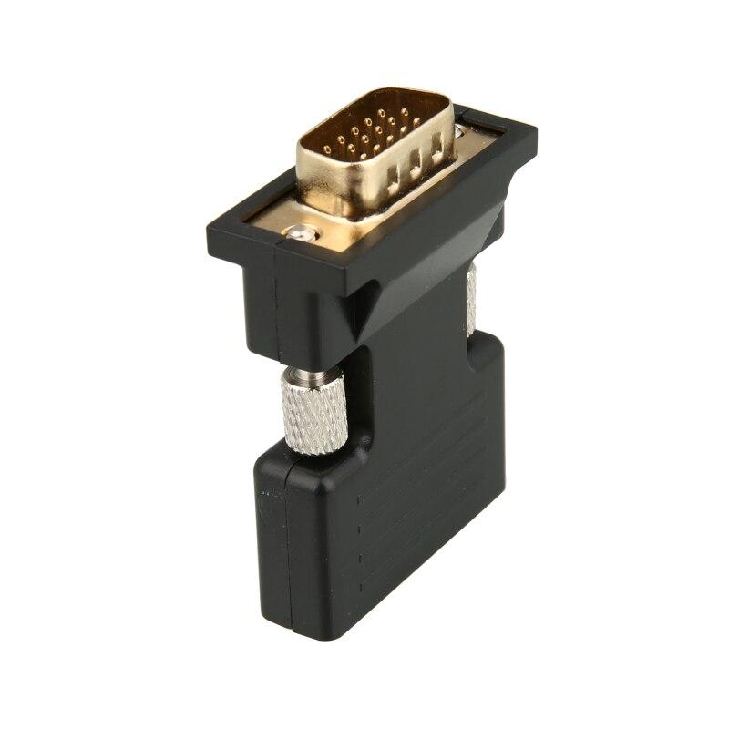 Caliente de Cable de Audio de 3,5mm soporte 1080P 720p señal de salida HDMI a VGA + Audio HD adaptador HDMI convertidor macho hembra a VGA nuevo
