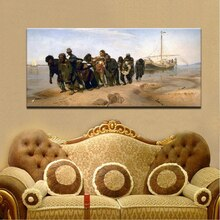 Famoso pintor Ilya Repin Volga River Trackers lienzo pintura famosa sobre lienzo pared arte imagen para decoración para sala de estar