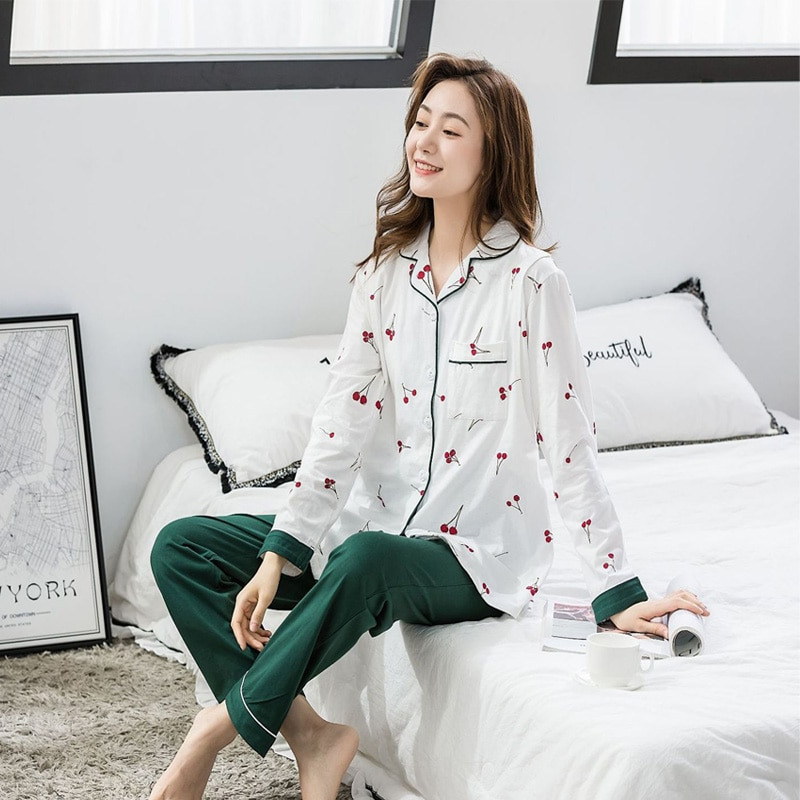 Women Pregnancy Pajamas Maternity Long Sleeve Cotton Sleepwear Pregnant Clothes Sets Pregnancy Nightgown Drop shipping enlarge