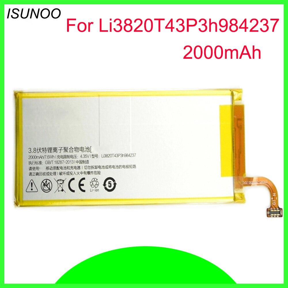 ISUNOO 2000 mAh Li3820T43P3h984237 batería para ZTE Nubia Z5S mini NX403A batería