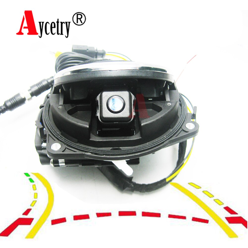 Aycetry! Logo smart flip câmera traseira para vw golf, câmera de ré para vw golf 5/6/7 mk6/mk7 passat cc b6/b7/b8 magotan beetle
